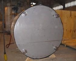 1 Cuve process agitée de 6 000 litres avec circuit forcé fond + 1/2 virole