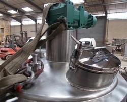 1 Cuve process agitée de 1 000 litres avec circuit forcé fond + virole pour yaourt brassé