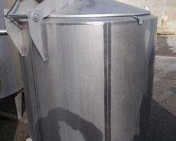 1 Cuve process isolée et agitée de 600 litres avec circuit forcé fond + virole